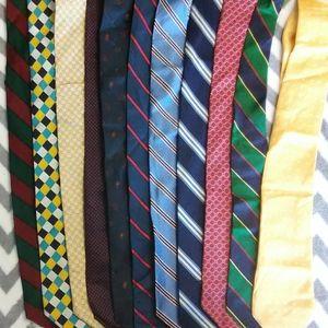 Brooks Brothers 11 Tie Lot